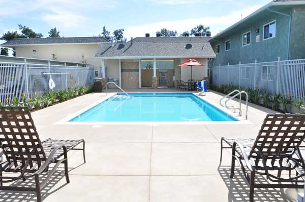 The Magnolia 9th Senior Apartments Pool view
